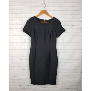 Anthro Maeve Black Ribbed Bodycon Dress